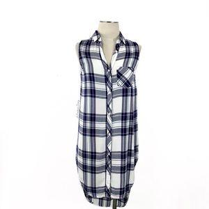 Rails- Jordyn Sleeveless Tunic Button Down Size XS